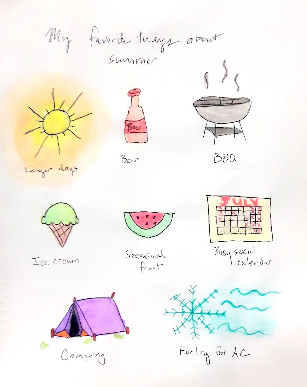 sketch summer favorite things