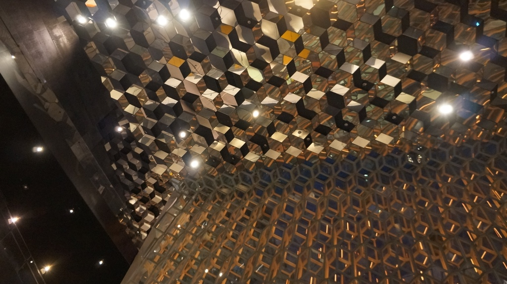 harpa concert hall early morning ceiling