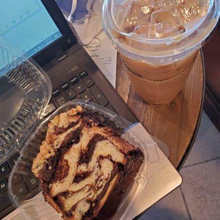 Coffee and chocolate hazelnut babka Barclays Northridge