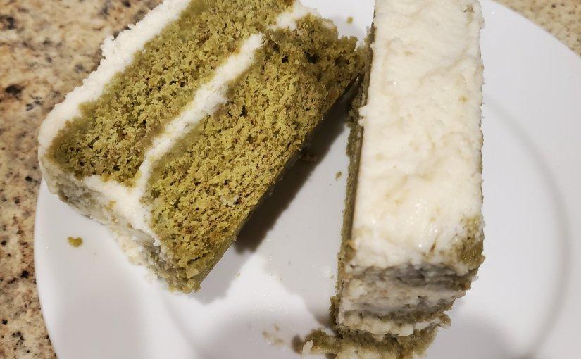 Matcha cake with white chocolate cream (Eat around the Worldchallenge)