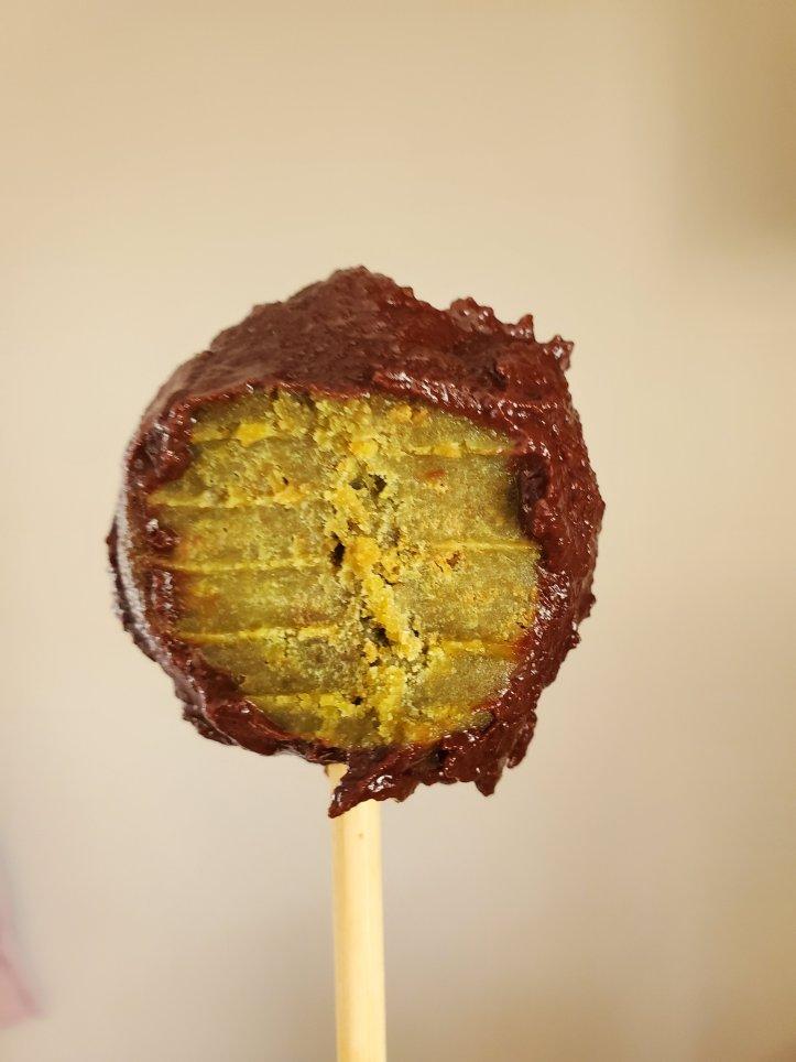 matcha chocolate cake truffle pop