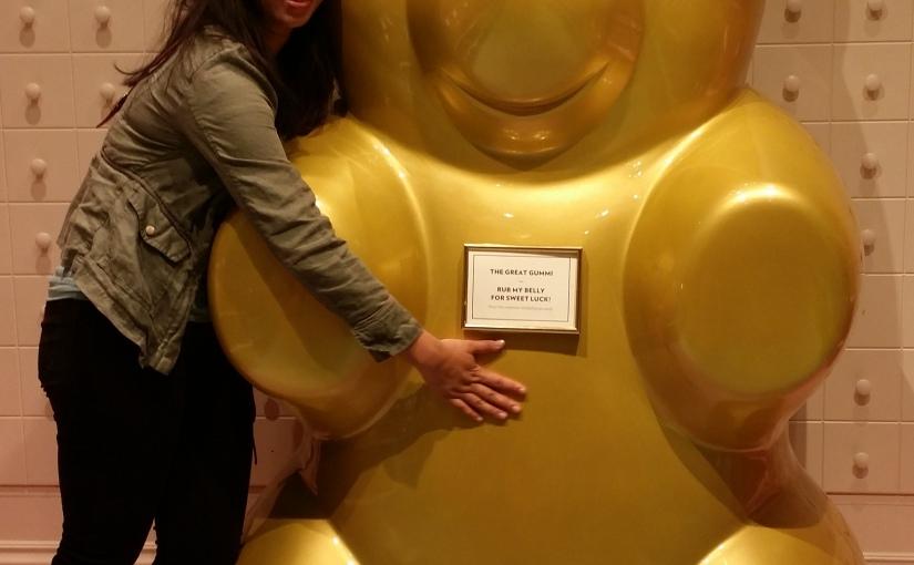 Giant gold gummy bear